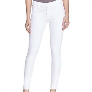 HUDSON Nico Super Skinny Mid Rise White Jeans 25